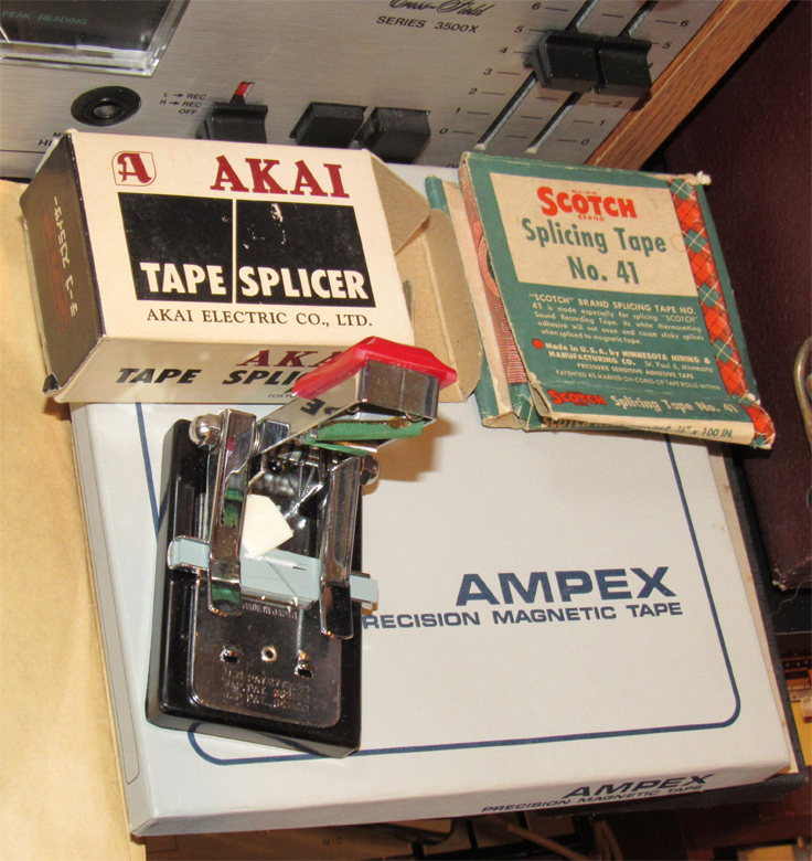 Akai reel tape splicer in the Reel2ReelTexas vintage recording collection