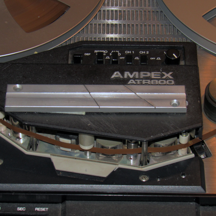 Splicing block on our Museum's Ampex ATR 800 reel to reel tape recorder in our Reel2ReelTexas vintage recording collection