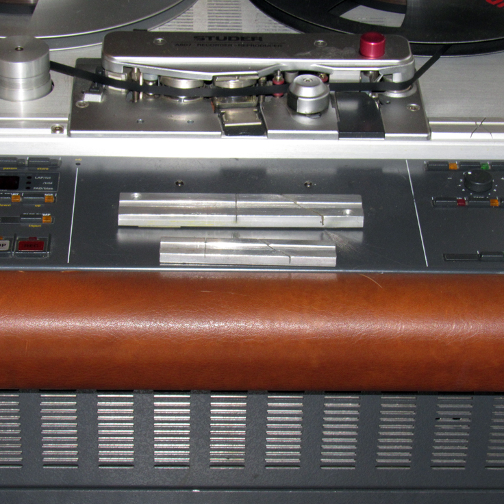 Additional block splicers on the Studer A807 reel tape recorder in our Reel2ReelTexas vintage recording collection