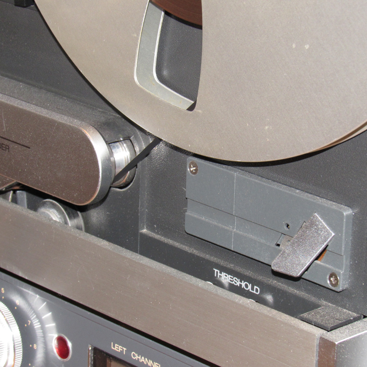 Splicing block on our Museum's ReVox B77 reel to reel tape recorder in the Reel2reelTexas vintage recording collection
