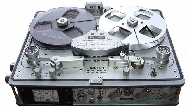 Gino Mancini's Stellavox SU8 professional portable reel to reel tape recorder  photo in the Museum of magnetic Sound Recording