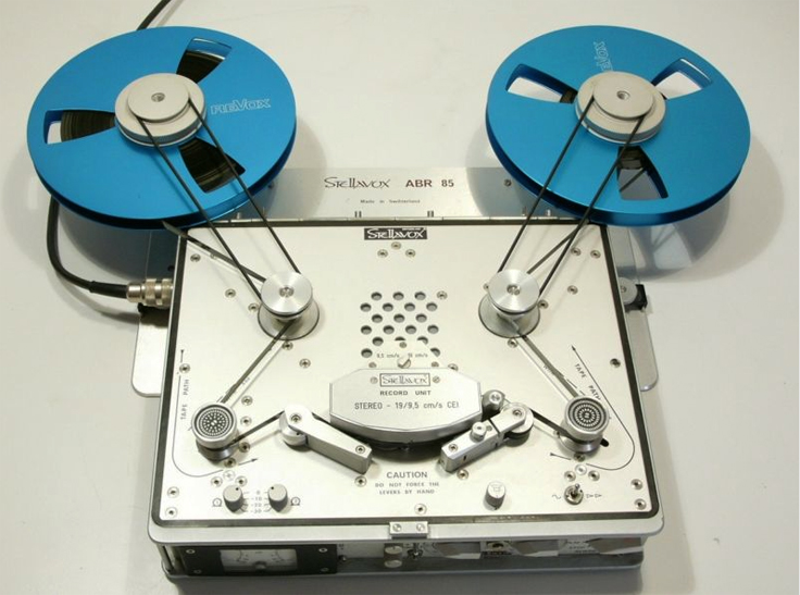 "Stellavox SP7 with ABR85 10"" adapter  pro tape recorder in the Reel2ReelTexas.com vintage recording collection"