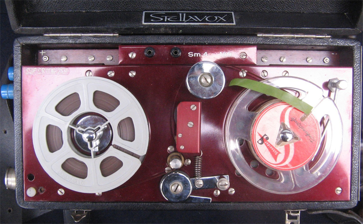 StellavoxSM4 portable reel tape recorder photo in the Reel2ReelTexas.com vintage recording collection
