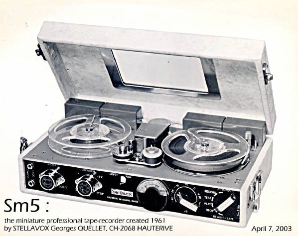 StellavoxSM5 portable reel tape recorder photo in the Reel2ReelTexas.com vintage recording collection