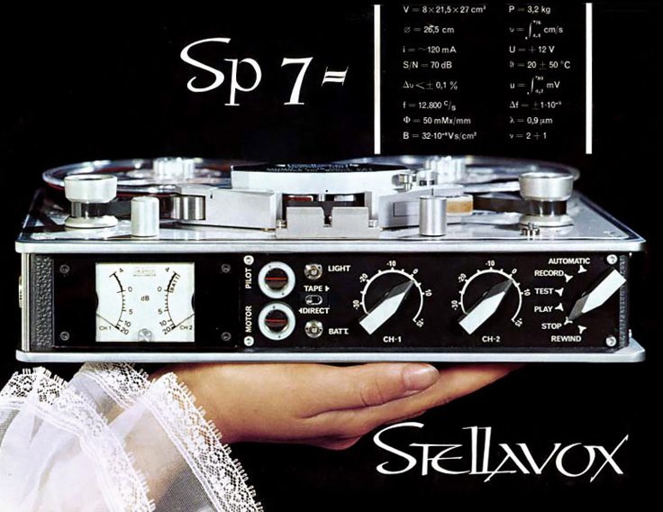 Stellavox SP7 ad in the Reel2ReelTexas.com vintage recording collection