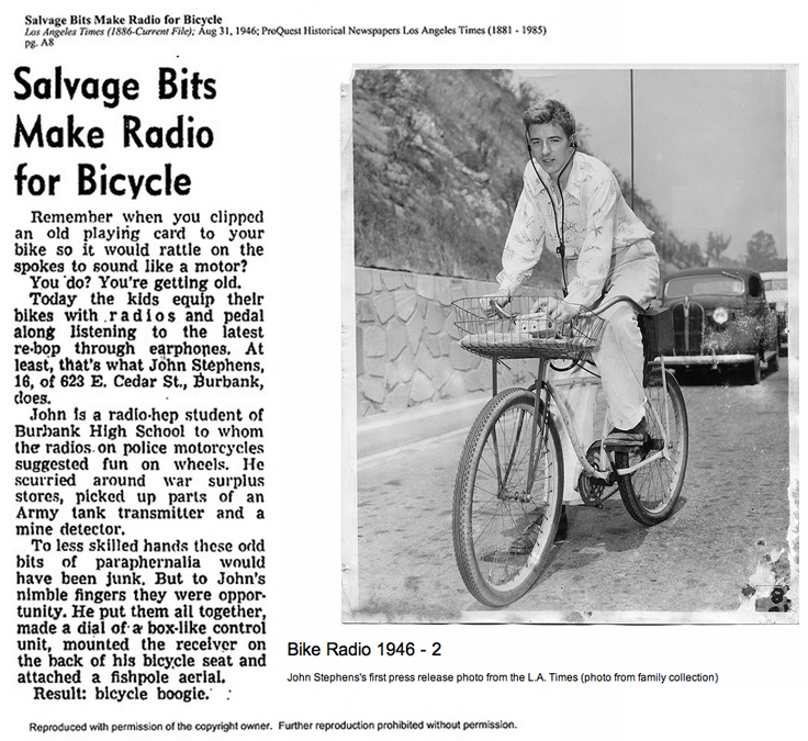 1946 photo and article provided to MOMSR by Rod Stephens