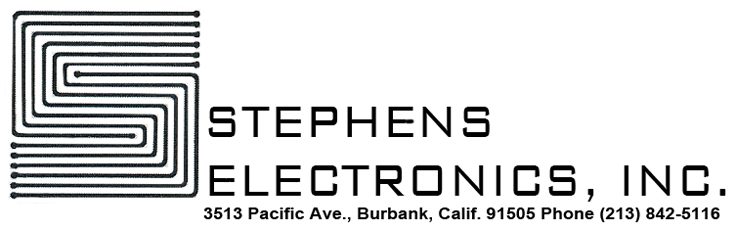 Stephens Electronics logo in the Reel2ReelTexas.com vintage recording collection