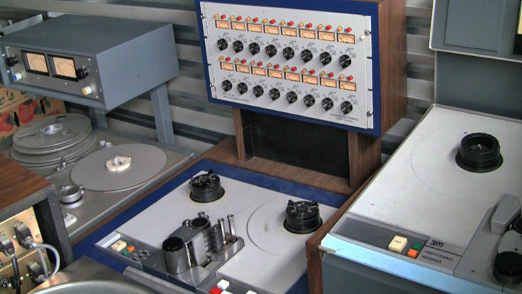 Leo deGar Kulka's 16 track Stephens reel to reel tape recorder photo in the Reel2ReelTexas.com vintage recording collection