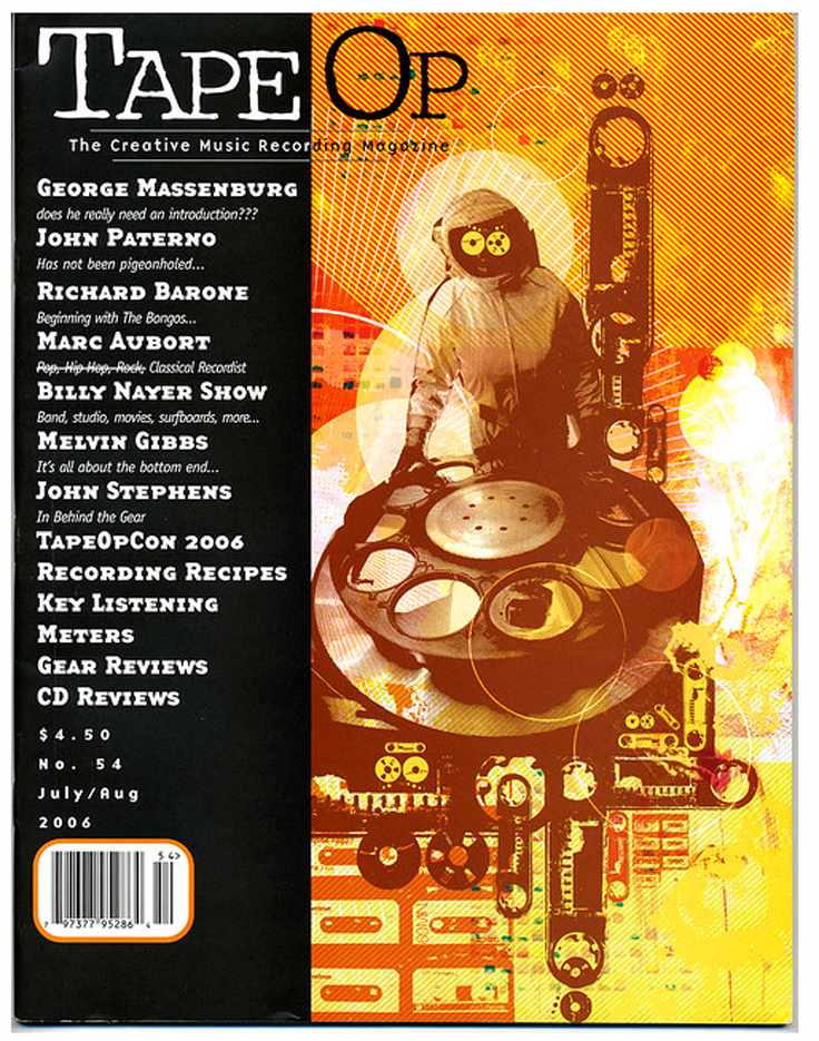 august 2006 Tape Op magazine aricle on John Stephens provided to MOMSR by Rod Stephens