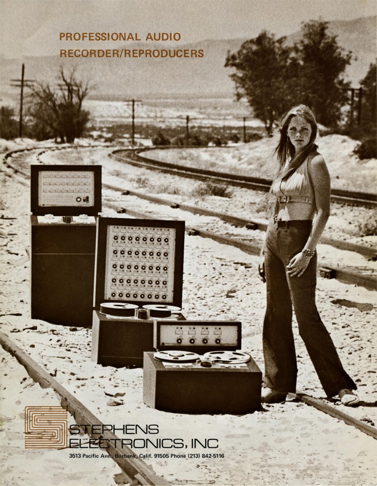 1974 Stephens reel to reel tape recorder ad in the Reel2ReelTexas.com vintage recording collection