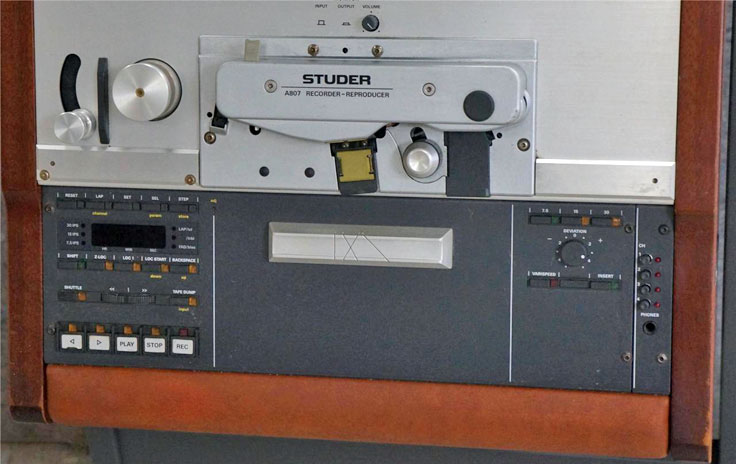 Stuider A807 1/2 inch 4 track professional reel to rel tape recorder photo in the Reel2ReelTexas.com vintage recording museum
