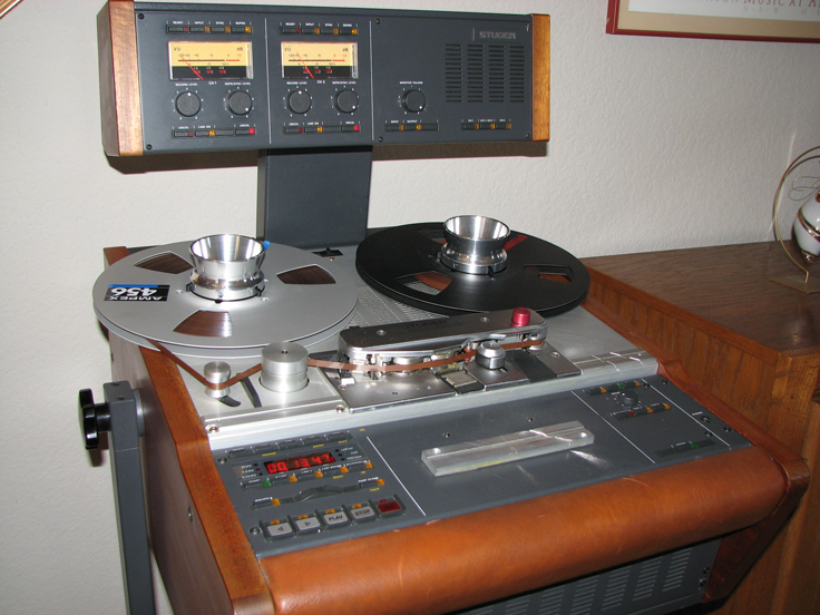 Studer A807 in Phantom's vintage reel to reel tape recorder collection