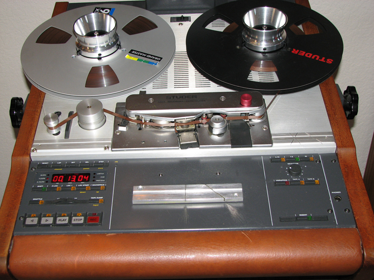 Studer A807 reel to reel tape rcorder in the Reel2ReelTexas.com vintage recording collection