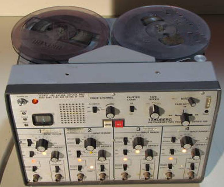 "Tandberg 100 1/4"" 8 track instrumentation/data  reel to reel tape recorder in the Reel2ReelTexas.com vintage recording collection"
