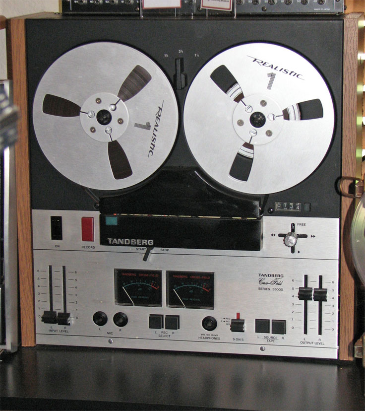 Tandberg Model 12 reel to reel tape rcorder in the Reel2ReelTexas.com vintage recording collection