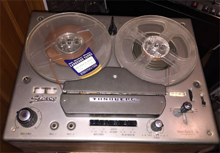 Tandberg Model 6 donated by Brent Dahl to the Museum of Magnetic Sound Recording's vintage reel tape recorder collection