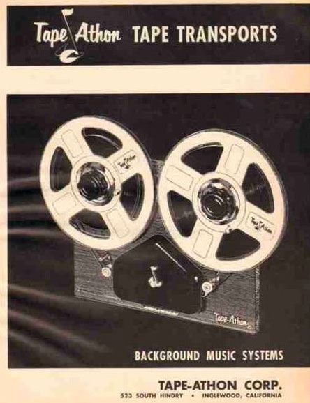 1964 Tape Athon  about Tape-Athon's reel to reel tape recorders in the Reel2ReelTexas /Museumof Magnetic Sound Recording vintage recording collection