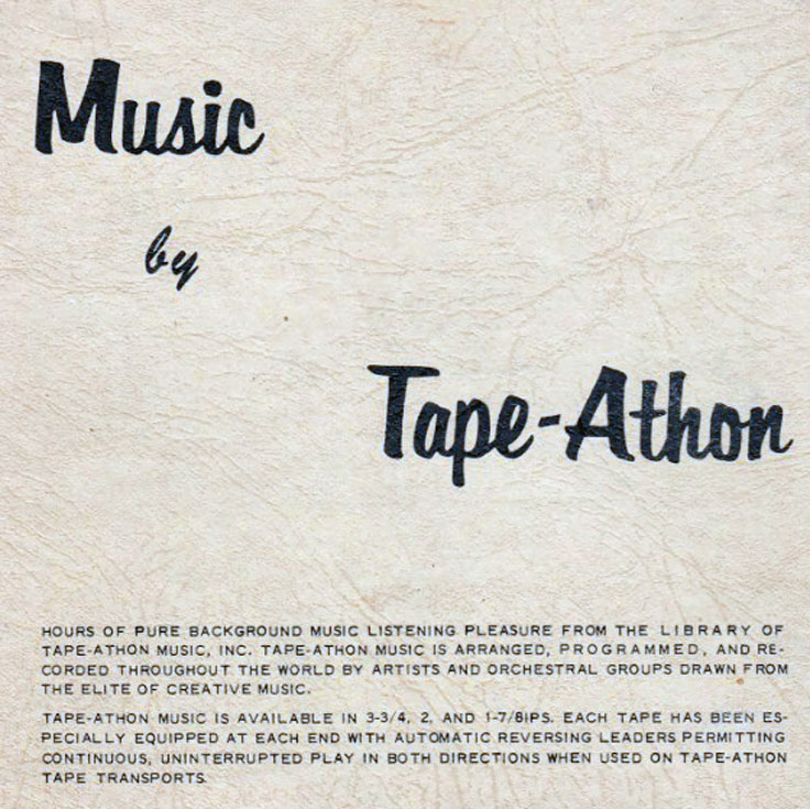 Tape Athon information on their music on reel to reel tape recorders