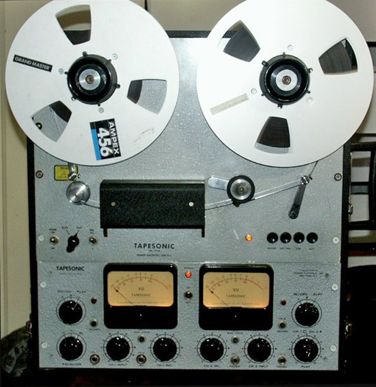Premier Electronics Tapesonic 70-T professional reel to reel tape recorder photo in the Museum of magnetic Sound Recording