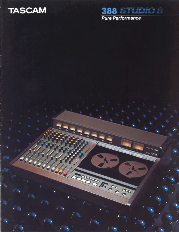 1987 Tascam 388 Studio 8 reel tape recoreder and mixer brochure in the Reel2ReelTexas.com vintage recording collection vintage recording collection