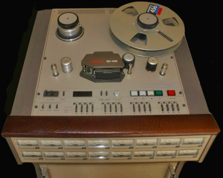 Tascam 80-16 16 track professional reel tape recorder in the Reel2ReelTexas.com vintage recording collection