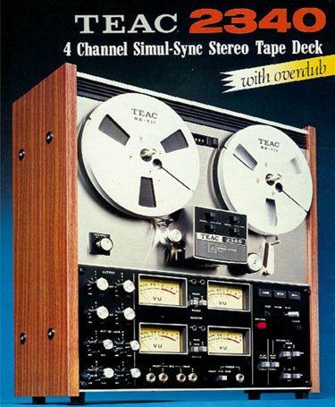 1974 ad for the Teac 2340  reel to reel tape recorder in the Reel2ReelTexas.com vintage recording collection