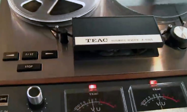 Teac A-4010S reel to reel tape recorder in the Reel2ReelTexas vintage reconding collection