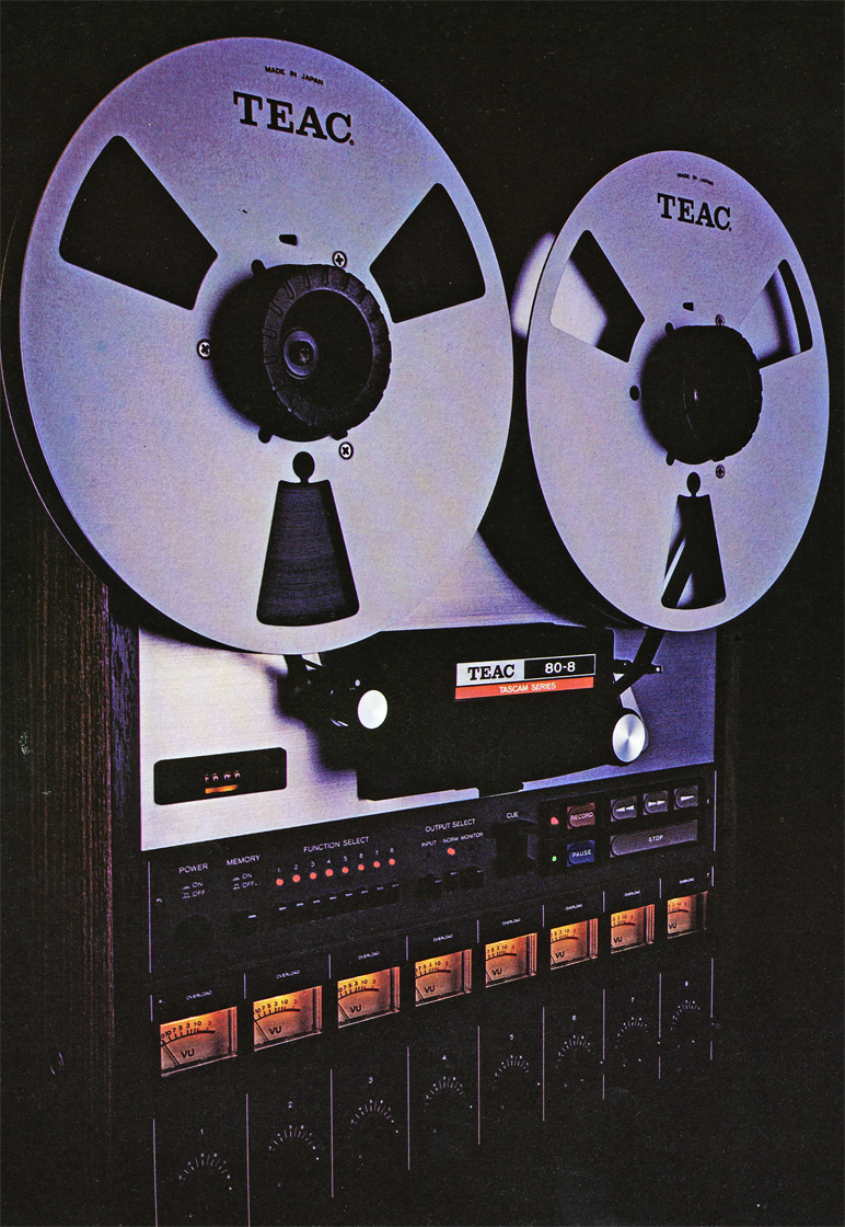 Teac Tascam 80-8 8 track professional reel to reel tape recorder in the Reel2ReelTexas vintage reel tape recorder recording collection