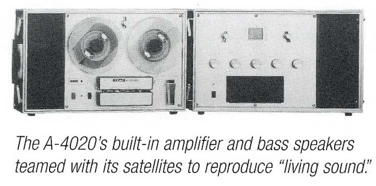 1966 Teac ad for the A-4020 open reel tape recorder in the Reel2ReelTexas.com vintage recording collection