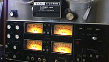 Teac A-2340 reel to reel tape recorder in the Reel2ReelTexas vintage recording collection