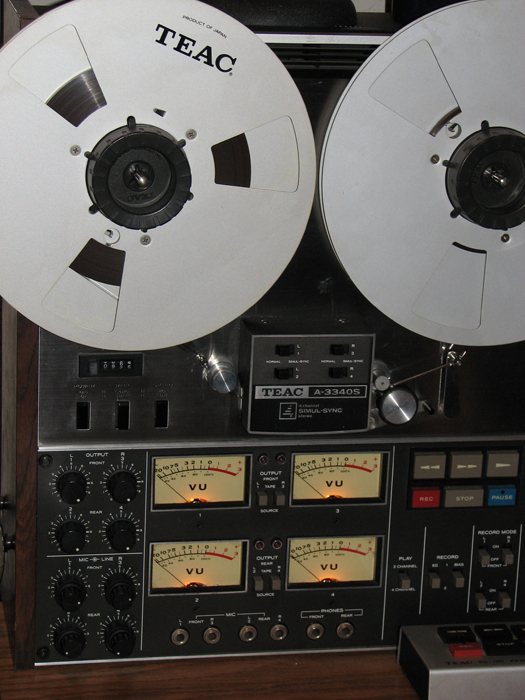 Teac A-3340 4 track reel to reel tape recorder in the Reel2ReelTexas vintage reconding collection