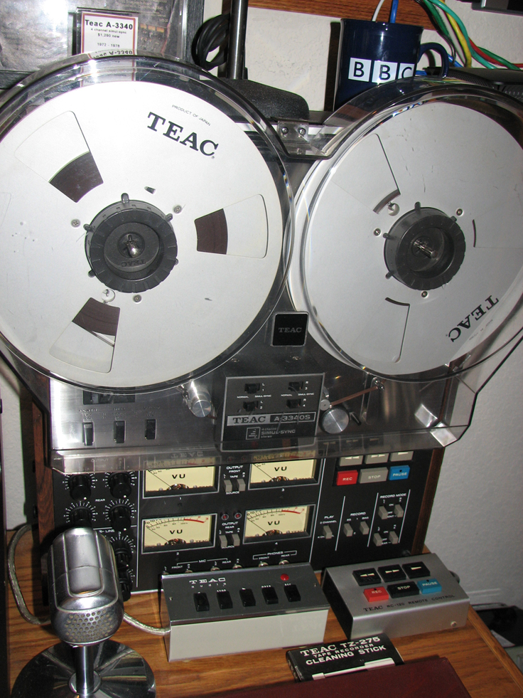 Teac A3340 reel to reel tape recorder in the Reel2ReelTexas.com vintaged recording collection