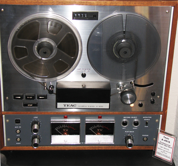 Teac 4010 reel tape recorder in the Museum of MAgnetic Sound Recording