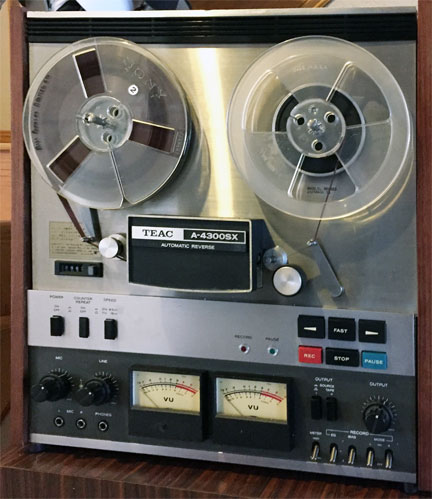 Teac  A-4300R reel to reel tape recorder donated by the Hugh Sparks Estate to the Museum of Magnetic Sound Recording