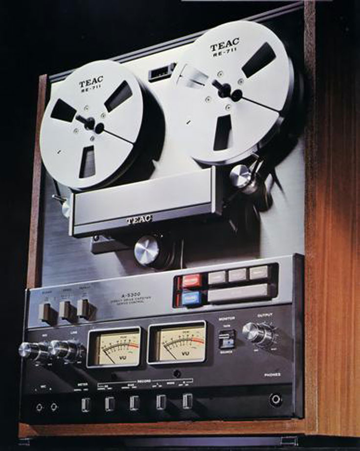 1975 ad for Teac reel to reel tape recorders in the Reel2ReelTexas.com and the Museum of Magnetic Sound Recording