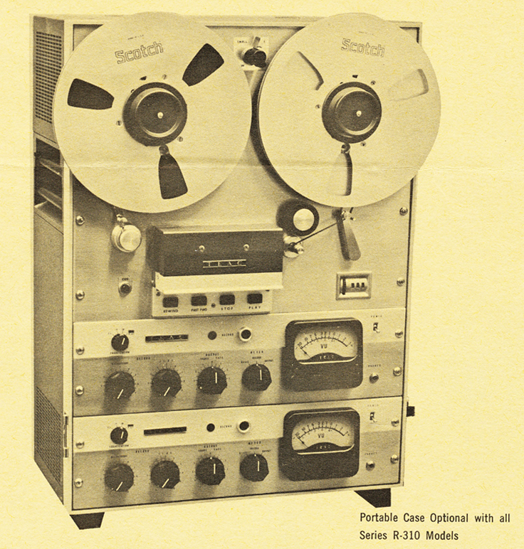 Teac Model R-310 reel to reel tape recorder ad in the Reel2ReelTexas.com vintage recording collection