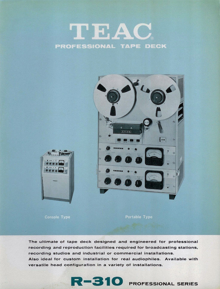 1957 brochure for the Teac RC310 reel to reel tape recorder photo in the Reel2ReelTexas.com vintage recording collection