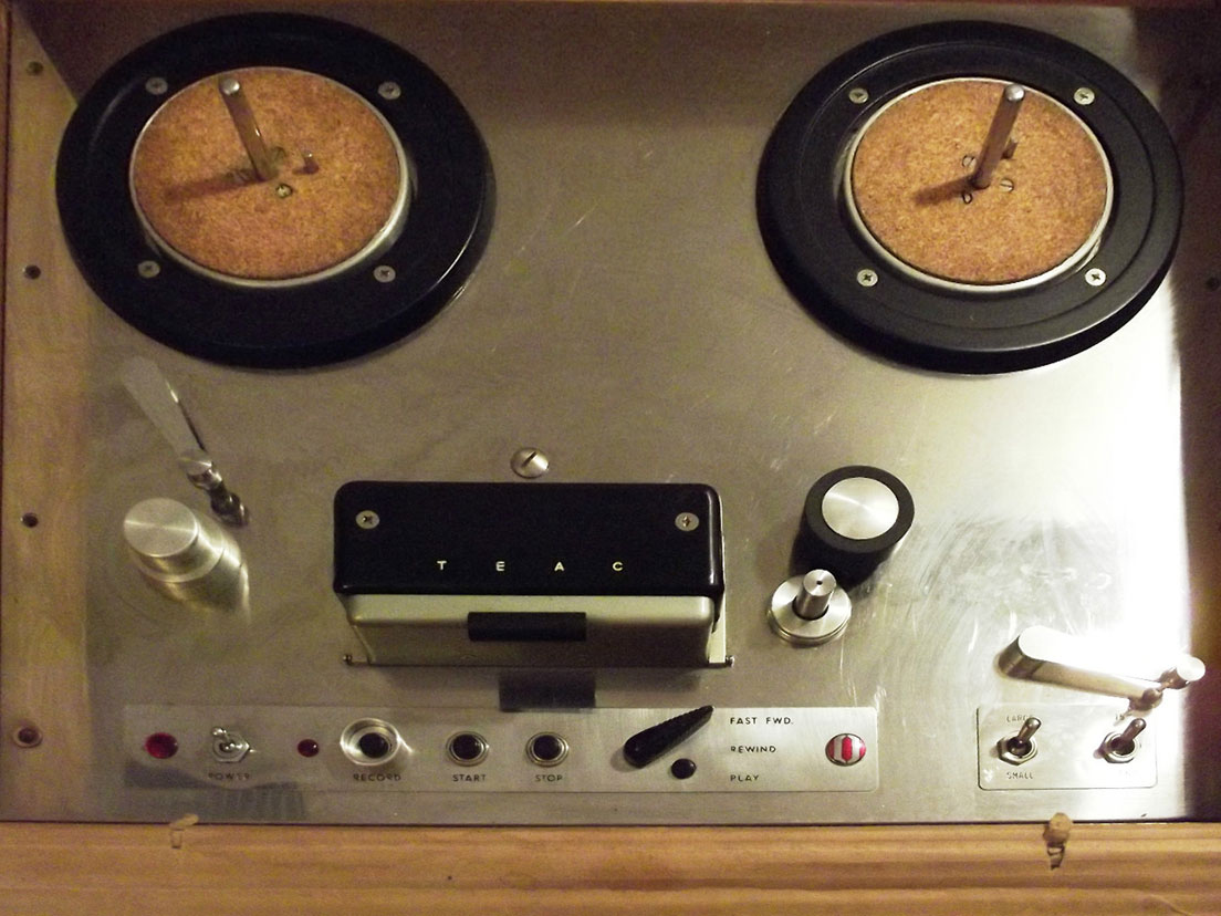 Teac TD-102 reel tape recorder in the Reel2ReelTexas.com vintage recording collection