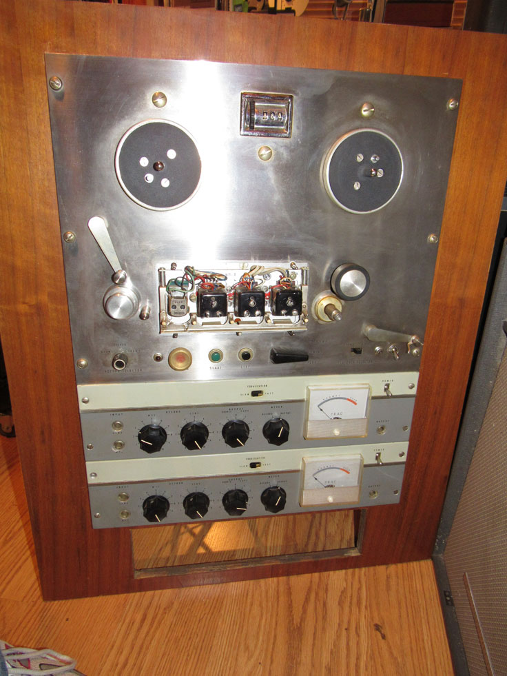 1959 Teac TD-7520, RC-11, TD-105 professional 3 motor reel to reel tape recorder in the Museum of Magnetic Sound Recording