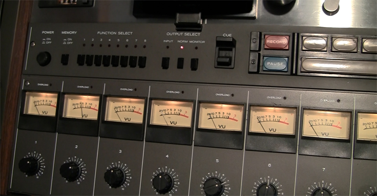 Teac Tascam 80-8 8 track professional reel to reel tape recorder used by Phantom Productions and now in the Reel2ReelTexas vintage recording colle