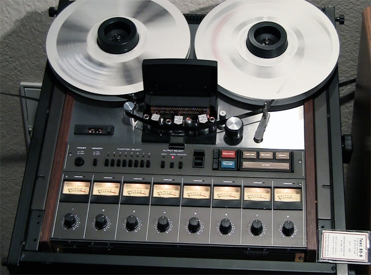 Teac Tascam 80-8 8 track professional reel to reel tape recorder used by Phantom Productions and now in the Reel2ReelTexas vintage reel tape recorder recording collection