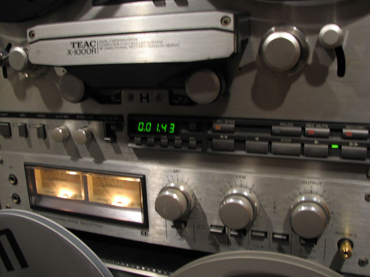 Teac X-1000R reel to reel tape recorder in the Reel2ReelTexas vintage reconding collection