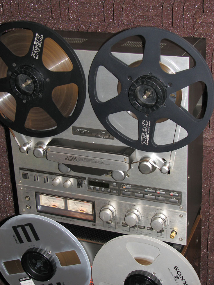 Teac X-100R reel tape recorder in the Museumof Magnetic Sound Recording