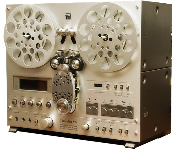 Technics 777 reel to reel tape recorder in the Reel2ReelTexas.com vintage recording collection