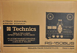 1980 box for the Technics RS-1506reel tape recorder in the Reel2ReelTexas.com vintage recording collection