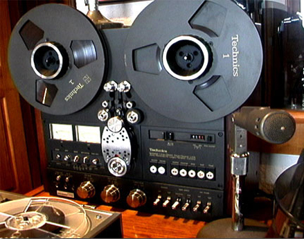 Technics RS-1700 reel to reel tape recorder in the Museum of MAgnetic Sound Recording