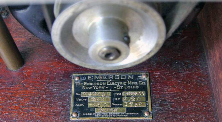 Emerson Telegraphone photo in the Museum of Magnetic Sound Recording