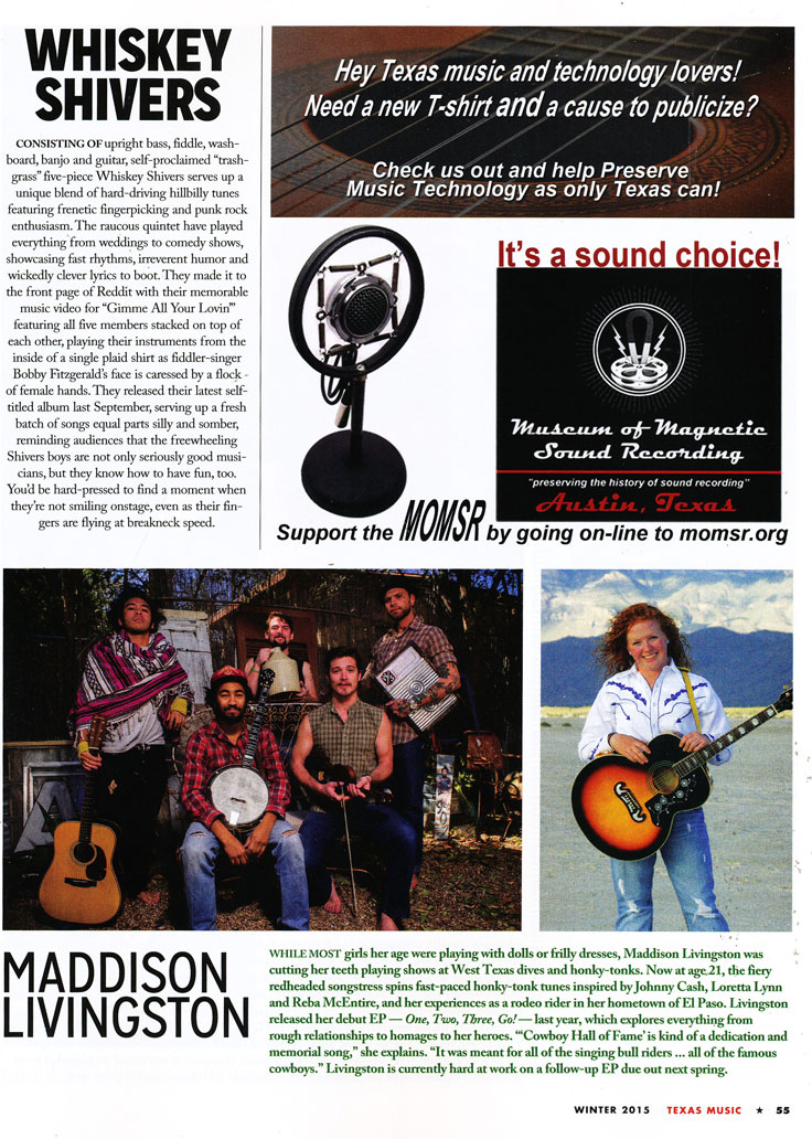 Country Line magazine article on MOMSR