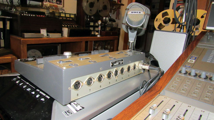 Uher Mixer M5 121A microphone mixer in the Reel2ReelTexas.com vintage reel tape recorder recording collection the