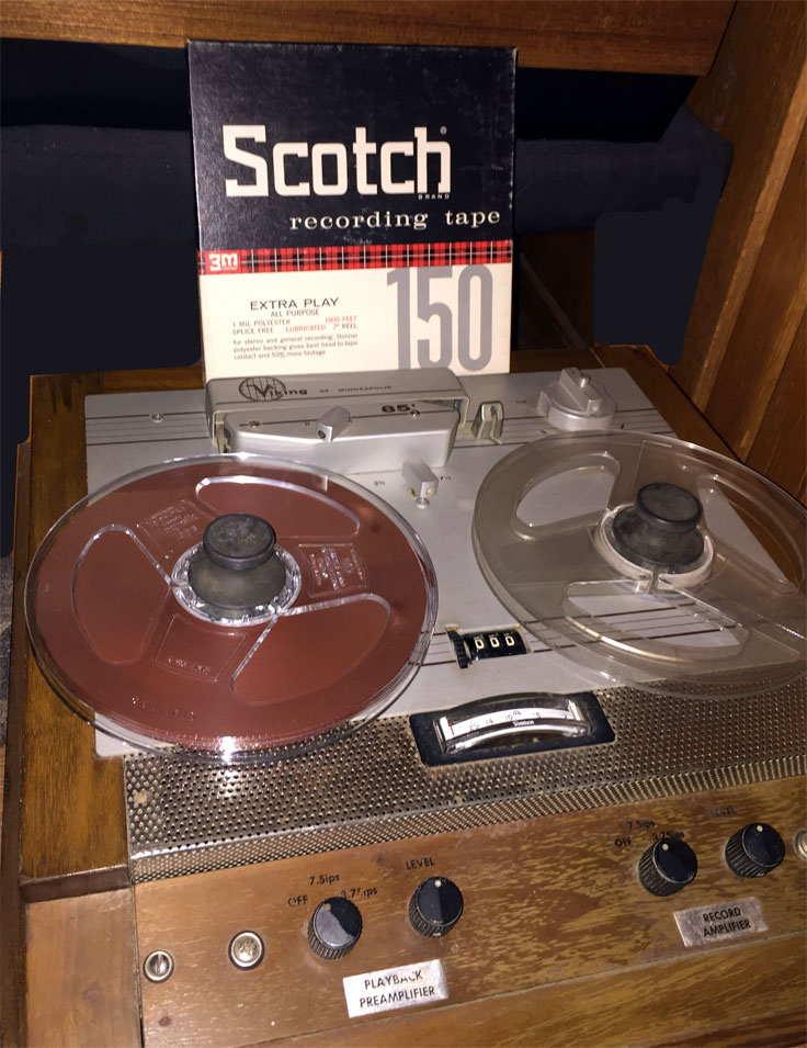 Viking 85 reel toreel tape recorder with the first solid state prototype amp was donated by Lawrence Grover to the Museum of Magnetic Sound Recording